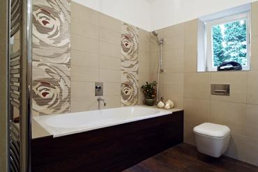 Obklady v koupelně výška
